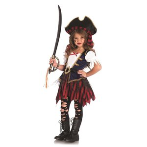 ハロウィン コスプレ 子供用 パイレーツ 海賊 2点セット 3〜10歳 ガールズ レッグアベニューC49104 即納