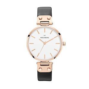 モックバーグ レディース SIGRID+BOX ブラックレザー MO1001 あすつく 腕時計|nopple