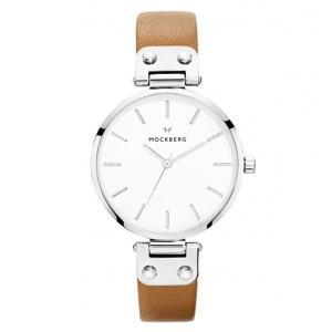 モックバーグ レディース WERA+BOX ブラウンレザー MO1006 あすつく 腕時計|nopple