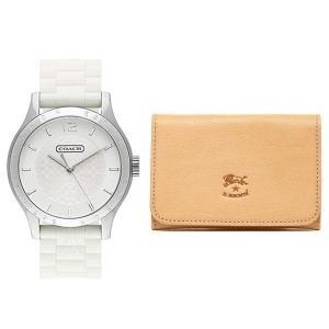 ★こちらはCOACH(コーチ)腕時計とIL BISONTE(イルビゾンテ)カードケースのセットです。...