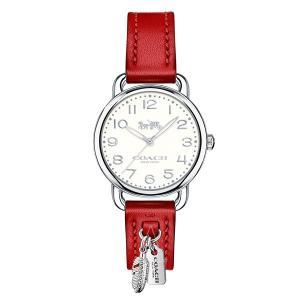 コーチ レディース デランシー レッド レザー 14502758 あすつく 腕時計|nopple