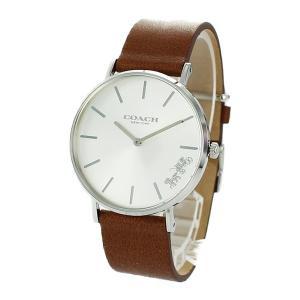 コーチ レディース PERRY ペリー シルバーケース ブラウン レザー 14503120 あすつく 腕時計 nopple
