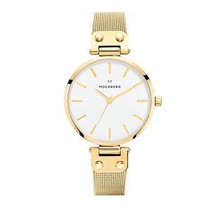 モックバーグ レディース LIVIA+BOX ゴールド ステンレス MO1601 あすつく 腕時計|nopple