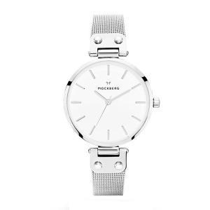 モックバーグ レディース ELISE+BOX シルバー ステンレス MO1602 腕時計|nopple