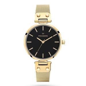 モックバーグ レディース ELISE NOIR+BOX ゴールド ステンレス MO1603 あすつく 腕時計|nopple