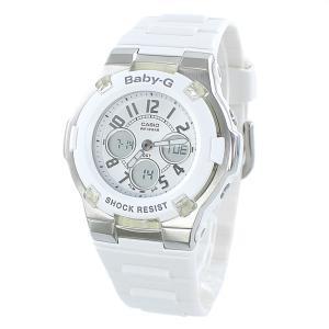 カシオ Baby-G ベビーG ベビージー レディース アナデジ 多機能 ホワイト×シルバー 10気圧防水 BGA-110-7B あすつく 腕時計|nopple