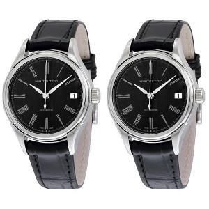 ハミルトン ペアウォッチ バリアント ブラック レザー 自動巻き H39415734H39415734 あすつく 腕時計|nopple