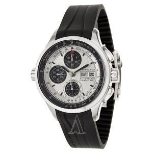 数量限定 ハミルトン メンズ カーキ Xパトロール 自動巻き シルバーダイヤル ブラックラバー H76566351 腕時計|nopple