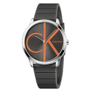 カルバンクライン CK メンズ レディース ミニマル シンプル ダークグレー ラバー 時計 カジュアル 男女兼用 K3M211T3 あすつく 腕時計|nopple