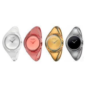 【選べる6種類】カルバンクライン CK レディース S M ピュア クリア 透明 スケルトン ブレスレット バングルウォッチ K4W2MXK6 あすつく 腕時計|nopple