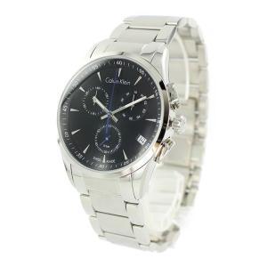 CALVIN KLEIN カルバンクライン メンズ BOLD ボールド クロノグラフ ブラック×シルバー ステンレス K5A27141 あすつく 腕時計|nopple