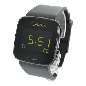カルバンクライン メンズ レディース FUTURE フューチャー デジタル スクエアケース 39mm ブラック ラバー K5C214D1 あすつく 腕時計|nopple