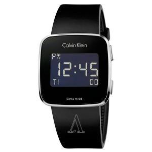カルバンクライン メンズ レディース FUTURE フューチャー デジタル スクエアケース 39mm ブラック ラバー K5C21TD1 あすつく 腕時計|nopple