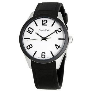 ★箱キズ・BOXのみ訳あり!お値引き価格★カルバンクライン メンズ レディース color カラー ホワイト ブラック ラバー K5E51CB2 あすつく 腕時計|nopple