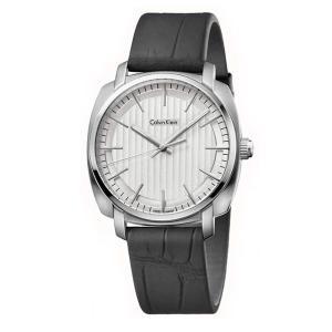 カルバンクライン CK メンズ ハイライン 40mm 白文字盤 ブラック レザー 革 K5M311C6 あすつく 腕時計|nopple