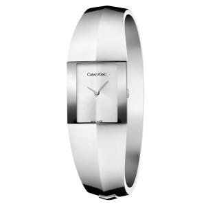 CALVIN KLEIN カルバンクライン CK レディース スクエアケース バングルブレスレット シルバー ステンレス K7C2S116 あすつく 腕時計|nopple
