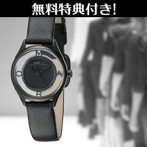 問屋さん決算価格 在庫処分 無料特典付き! マークジェイコブス レディース 時計 おしゃれなスケルトン 高品質 黒レザー MBM1384 あすつく  nopple