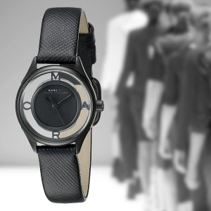 問屋さん決算価格 在庫処分 マークジェイコブス レディース ティザー ブラックレザー MBM1384 あすつく 腕時計 nopple