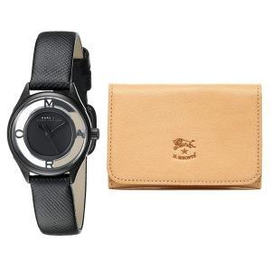 在庫処分価格 セット商品 マークジェイコブス&イルビゾンテ 腕時計&カードケース レディース ティザー レザー 名刺入れ MBM1384/C0470P 120 あすつく nopple