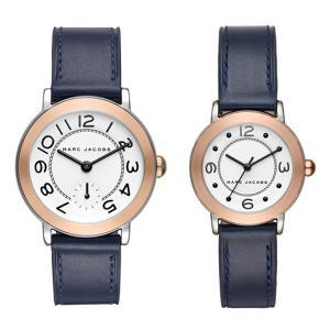 時計収納BOX付き マークジェイコブス ペアウォッチ ライリー 2本組 ピンクゴールド ネイビーレザー 革 MJ1602MJ1604 あすつく 腕時計 nopple