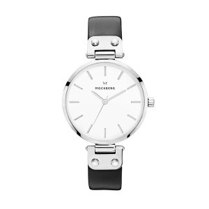 箱なし・腕時計のみお届け モックバーグ レディース ASTRID+BOX ブラックレザー MO1002|nopple