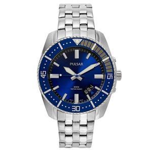 セイコー パルサー メンズ シルバー ステンレス ブルー PS9319 あすつく 腕時計|nopple