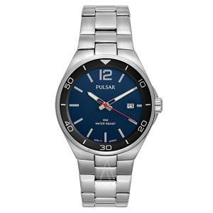 セイコー パルサー メンズ シルバー ステンレス ブルー PS9325 あすつく 腕時計|nopple