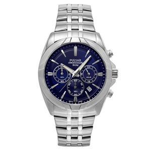 セイコー パルサー メンズ クロノグラフ ダークブルー文字盤 PT3683 あすつく 腕時計|nopple