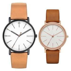 スカーゲン ペアウォッチ シグネチャー ハルド  レザー SKW6352SKW2488 あすつく 腕時計 nopple