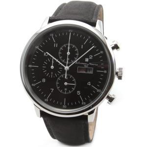 【初回限定特価】復刻・限定モデル サルバトーレマーラ メンズ クロノグラフ ブラック SM12124-SSBK あすつく 腕時計 nopple