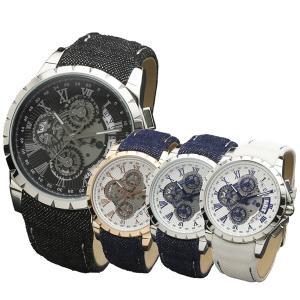 サルバトーレマーラ メンズ インディゴデニムストラップ SM13119D-PGWHBL あすつく 腕時計 nopple