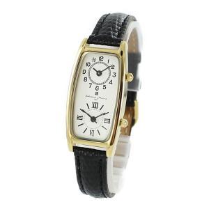 【国内正規品】サルバトーレマーラ レディース 海外旅行に便利 デュアルタイム 2つの時間 レトロ アンティーク調 ブラック 革 SM19155-GDWH/BK あすつく 腕時計 nopple