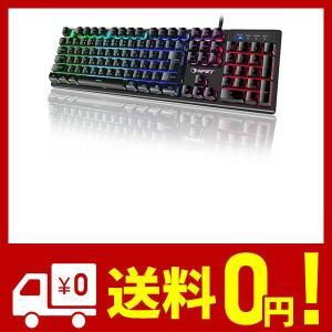 NPET ゲーミングキーボード LED バックライト 7色 防水 usb 26キー防衝突 キーボード...