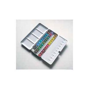 ラウニー専門家用水彩絵の具 ハーフパンメタルボックス36色セット|north-village-visual