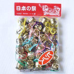 ねぶた祭り 七分鈴 ゴールド30個紐付ピン入|northern-festival