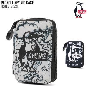 2021 春夏 新作 チャムス CHUMS リサイクル キー ジップ ケース RECYCLE KEY ZIP CASE キーケース コインケース CH60-3153 メンズ レディース|northfeel-apparel
