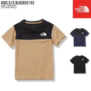 2021 春夏 新作 ノースフェイス THE NORTH FACE キッズ ショートスリーブ ブロックド ティー KIDS S/S BLOCKED TEE Tシャツトップス NTJ32152 キッズ|northfeel-apparel