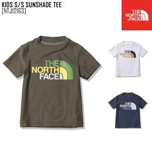 2021 春夏 新作 ノースフェイス THE NORTH FACE キッズ ショートスリーブ サンシェード ティー KIDS S/S SUNSHADE TEE トップス ラッシュガード NTJ12163 キッズ|northfeel-apparel