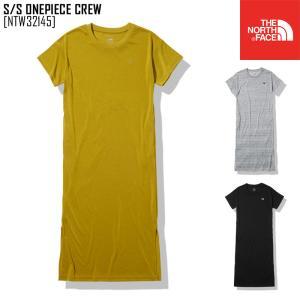 2021 春夏 新作 ノースフェイス THE NORTH FACE ショートスリーブ ワンピース クルー S/S ONEPIECE CREW ワンピース Tシャツ NTW32145 レディース northfeel-apparel