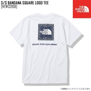 2021 春夏 新作 ノースフェイス THE NORTH FACE ショートスリーブ バンダナ スクエア ロゴ ティー S/S BANDANA SQUARE LOGO TEE Tシャツ トップス NTW32108|northfeel-apparel