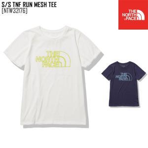 2021 春夏 新作 ノースフェイス THE NORTH FACE ショートスリーブ TNF ラン メッシュ ティー S/S TNF RUN MESH TEE Tシャツ トップス NTW32176 レディース northfeel-apparel