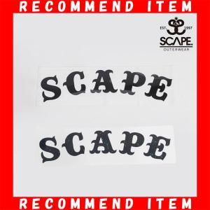 エスケープ SCAPE カッティング ステッカー ロゴ スノボー|northfeel