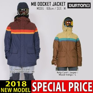 17-18 新作 BURTON バートン メンズ ウェア ジャケット DOCKET JACKET スノボ スノーボードウェア スキーウェア 101671|northfeel