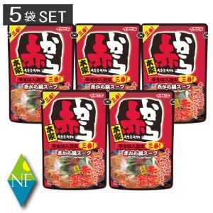 イチビキ ストレート赤から鍋スープ3番 750g ×5袋セット 送料無料 northfoods