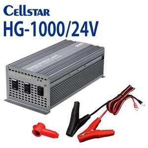 [セルスター/CELLSTAR]  HGシリーズ HG-1000/24V DC/AC パワー インバーターミニ(入力:24V専用 / 出力:AC100V 最大出力:1000W)701125|northport-plaza
