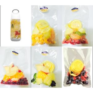 デトックスウォーター冷凍フルーツ 5種類セット 100g×5 フルーツウォーター用冷凍フルーツ 【消...