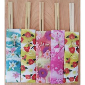 かわいい箸袋入り割り箸(花便り) 5膳セット【定形外送料0円】|nossery