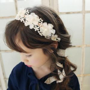 子供用 キッズ 用 髪飾り フラワーレース カチューシャ|nossery
