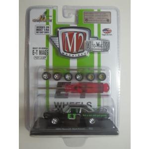 M2 MACHINES AUTO-WHEELS 1969 Plymouth Road Runner Black w/Semi Gloss Black Hood R01
