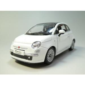 KiNSMART プルバックカー☆2007 FIAT 500 (WHITE) 新品箱無し   1/2...